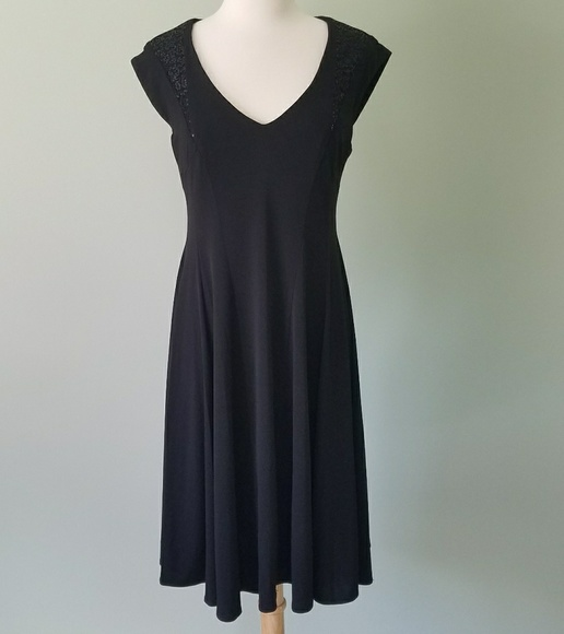 London Style Dresses & Skirts - London Style black sequence dress size 8
